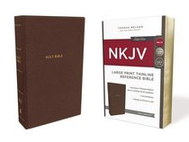 NKJV Thinline Reference Bible Large Print Brown (Red Letter Edition)