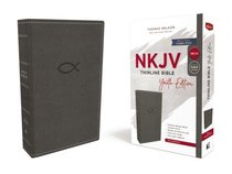 NKJV Thinline Bible Youth Edition Gray (Red Letter Edition)