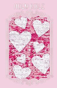 ICB Sequin Sparkle and Change Bible Pink