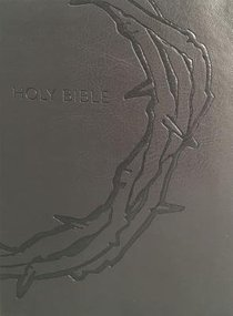 Kjver Sword Study Bible Personal Size Large Print Designer Charcoal Ultrasoft Crown of Thorns (Red Letter Edition)