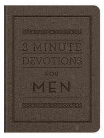 3-Minute Devotions For Men (3 Minute Devotions Series)