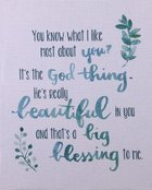 Canvas Wall Art: It's the God Thing.... ((In)courage Gift Product Series) Plaque