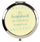 Cosmetic Mirror: She Brightened the World With Her Beautiful Smile, Blue Flower ((In)courage Gift Product Series)