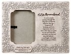 Photo Frame Cast Stone: A Life Remembered, Vine Etching (Phil 1:3) Homeware