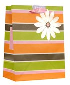 Gift Bag Medium: Stripes & Flower (Deut 26:11) Stationery