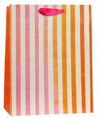 Gift Bag Meduim: Pink Orange Stripes (James 1:17) Stationery