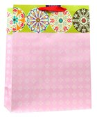 Gift Bag Large: Pink White Pattern, Lord You Have Made Me Happy (Psalm 92:4) Stationery