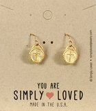 Earrings Simply Loved Design: Dot Cross (Gold Plated) Jewellery