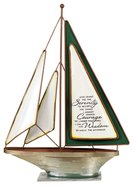 Sailboat: Serenity Prayer (Resin With Metal Base) Homeware