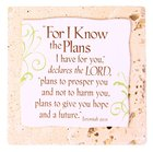 Sentiment Tiles: For I Know the Plans I Have For You Plaque