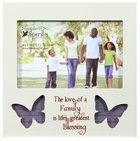 Photo Frame Simple Spirits: Family, Blue Butterflies Homeware