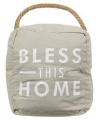 Door Stopper: Bless This Home, Beige/White Homeware
