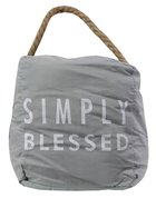 Door Stopper: Simply Blessed, Light Gray/White