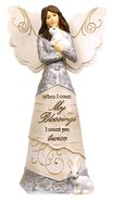 Elements Angel: Count Your Blessings, Angel Holding Bunnies Homeware