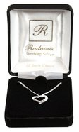 Necklace: Sterling Silver Heart With Cross on 45Cm Sterling Silver Chain Jewellery