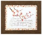 Gracelaced Framed Art Print: I Praise You, Pink Flowers (Psalm 139:14) Plaque