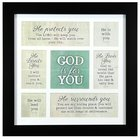Framed Art Print: God is For You.... (Various Scriptures) Plaque