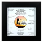 Framed Art Print: Choose Happy, Black Frame/White Matboard Plaque