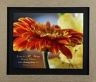 Framed Art Print: I Can Do All Things Through Christ, Orange Geranium (Phil 4:13) Plaque