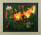 Framed Art Print: Everything Beautiful, Orange Flowers (Ecc 3:11) Plaque
