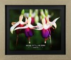 Framed Art Print: With God All Things Are Possible, Purple/White Flower (Matthew 19:26) Plaque