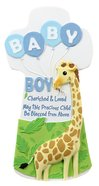 Cherished Blessings Wall Cross: Boy, May This Precious Child Be Blessed From Above Plaque