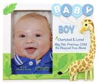 Cherished Blessings Photo Frame: Boy, May This Precious Child Be Blessed From Above