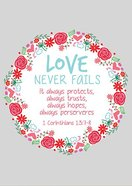Poster Large: Love Never Fails, (Floral Wreath) Poster
