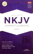 NKJV Compact Ultrathin Bible Purple Premium Imitation Leather