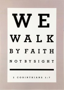 Poster Large: We Walk By Faith