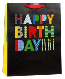 Gift Bag Large: Happy Birthday Bold (Incl Two Sheets Tissue Paper)