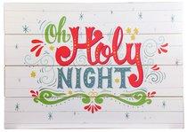 Christmas Mdf Wall Art: Oh Holy Night