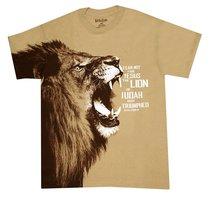 T-Shirt Fear Not: Lion Large Brown (Rev 5:5)