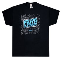 T-Shirt the Faith is Strong....Large Black/Blue (1 Cor 16:13)