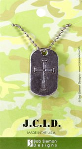Necklace: J.C.I.D. Iron Cross Tag on a 60Cm Ball Chain