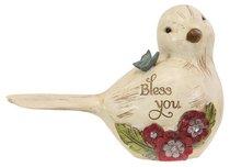 Ceramic Bird Figurine Simple Spirits: Bless You