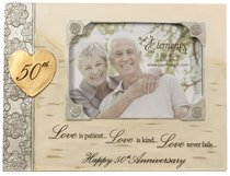 Elements Photo Frame:50Th Anniversary, Love is Patient, Love is Kind...Love Never Fails...Happy 50Th Anniversary