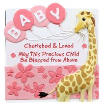 Cherished Blessings Plaque: Girl, May This Precious Child Be Blessed From Above