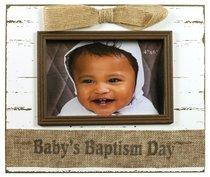 Wood Frame 6x4 Shabby Chic Baptism