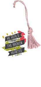 Tassel Bookmark: He Heals the Broken Hearted