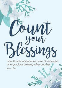 Poster Large: Count Your Blessings