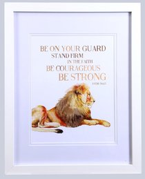 Framed Childrens Print: Lion Be on Your Guard (1 Corinthians 16:13)