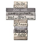 Stacked Wood Cross: Journey, Large (Jer 29:11) Plaque