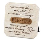 Bronze Title Bar Plaque: Blessed, Cast Stone (Num 6:24-26) Plaque