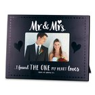 Mdf Frame: Handwritten Mr & Mrs, Black & White (Song Of Songs 3:4) Homeware
