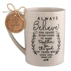 Ceramic Mug Hand Drawn Doodles: Always Believe (Romans 8:28) Homeware