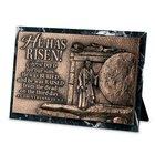 Moments of Faith Sculpture Plaque: He Has Risen! (1 Cor 15:3-4) (Cast Stone/ Mdf Base) Homeware