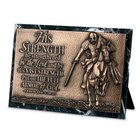 Moments of Faith Sculpture Plaque: Strength Marble (Eph 6:10-11) (Rectangle)
