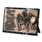 Moments of Faith Sculpture Plaque: Stand Firm Marble (Zechariah 10:5) (Rectangle)