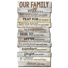 Stacked Wood Word Plaque: Our Family Will, Mdf/Paper, Large Plaque